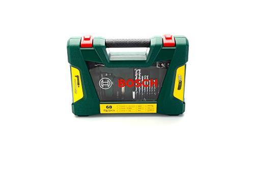Bosch V-Line Bohrer- und Bit-Set ... Magnetstab 68-teilig Klappmesser