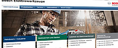 Възобновяване на интернет страниците на Bosch Power Tools